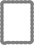 Ornamental black frame with arc elements Royalty Free Stock Photos