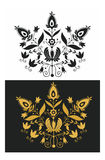 Ornamental black and gold Stock Image