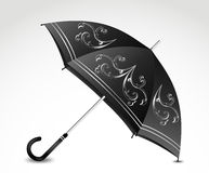 Ornamental black umbrella. Vector Stock Photography