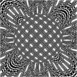 Ornamental Black And White Burst Planet Vector Royalty Free Stock Image