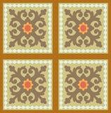 Ornamental blocks - tiled background Stock Images