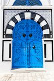 Ornamental Blue Door. Royalty Free Stock Photo