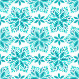 Ornamental blue floral background. Seamless pattern for textile design, prints for fabric and winter decoration Stock Photos