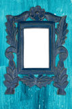 Ornamental blue frame Royalty Free Stock Images