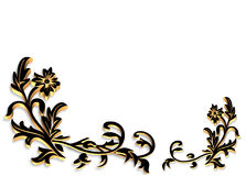 Ornamental Border 3D. Illustration for ornamental frame, background, border or invitation with copy space Stock Image
