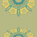 Ornamental border flowers pattern , colorful border flowers isolated background Stock Photos