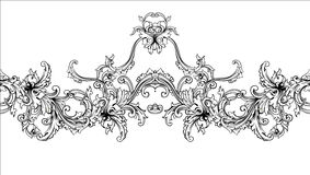 Ornamental border, frame. Baroque pattern. Vector seamless. Royalty Free Stock Image