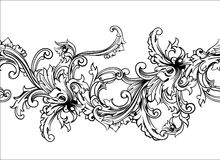 Ornamental border, frame. Baroque pattern. Vector seamless. Stock Photography