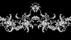 Ornamental border, frame. Baroque pattern. Vector seamless. Royalty Free Stock Images