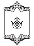 Ornamental border frame design element collection royalty free illustration