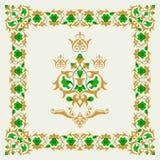 Ornamental border frame design element collection Stock Photography