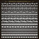 Ornamental border frame line vintage patterns 2 vector. Set of vintage style ornamental border frame line patterns 2 vector vector illustration