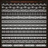 Ornamental border frame line vintage patterns 3 vector Stock Images