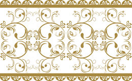 Ornamental border isolated on the white Stock Photos