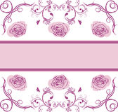 Ornamental border with stylized roses for a event design Royalty Free Stock Photo
