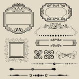 Ornamental borders and frames Stock Image