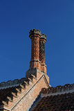 Ornamental brick chimneys Royalty Free Stock Photos