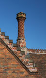 Ornamental brick chimneys Stock Image