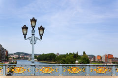 Ornamental bridge railing in Liege Stock Photos