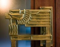 Ornamental Bronze Decorated Doorhandle Royalty Free Stock Photos