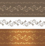 Ornamental brown borders Royalty Free Stock Photography