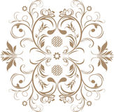 Ornamental brown element isolated on the white Royalty Free Stock Photos