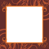 Ornamental brown frame Stock Photos