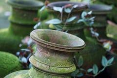 Ornamental Buddhist vases Royalty Free Stock Photo