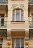 Ornamental building in Art Deco style(Prague) stock image