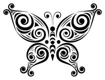 Ornamental butterfly 2. Stock Photos