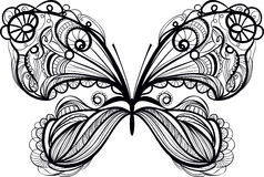 Ornamental  butterfly Royalty Free Stock Images