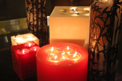 Ornamental candles Royalty Free Stock Image