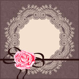 Ornamental card pattern with napkin, ribbon Royalty Free Stock Photography