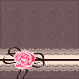 Ornamental card pattern with napkin, ribbon  and Royalty Free Stock Photo