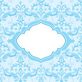 Ornamental card template Royalty Free Stock Images