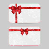 Ornamental Card Templates with ribbon bow Stock Image