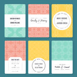Ornamental Card Templates Stock Photography