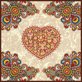 Ornamental carpet design for valentines day Royalty Free Stock Photography