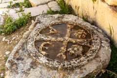 Ornamental carving of Jerash, Jordan Royalty Free Stock Photography