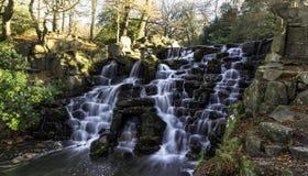 The Ornamental Cascade waterfall in Virginia Water, Surrey, UK. The ornamental Cascade waterfall in Virginia Water, Surrey, United Kingdom stock photo