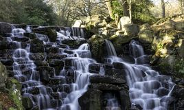 The Ornamental Cascade waterfall in Virginia Water, Surrey, UK. The ornamental Cascade waterfall in Virginia Water, Surrey, United Kingdom Royalty Free Stock Images