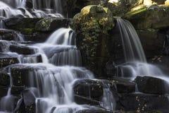 The Ornamental Cascade waterfall in Virginia Water, Surrey, UK. The ornamental Cascade waterfall in Virginia Water, Surrey, United Kingdom royalty free stock photos