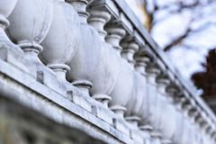 Ornamental cast stone balustrade Royalty Free Stock Images