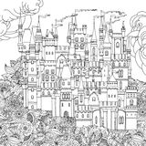 Ornamental castle from a fairy tale Stock Images