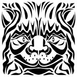 Ornamental Cat`s Head Vector Illustration stock photography