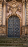 Ornamental Cathedral Door. Steps leading to an ornamental cathedral door set in ornate stone Royalty Free Stock Images