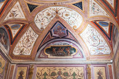 Ornamental ceiling in Ducal Palace Museum Mantua Royalty Free Stock Image