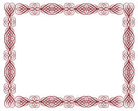 Ornamental Certificate Border Red Stock Images