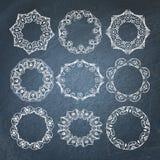 Ornamental chalkboard frames set Stock Images