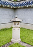 Ornamental Chinese garden lamp post. Stock Images